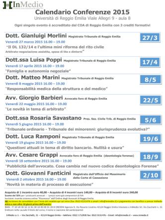 Calendario Conferenze 2015