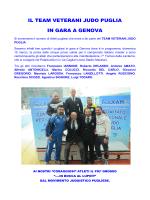 il team veterani judo puglia in gara a genova