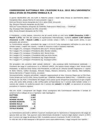 6 marzo 2015 verbale commissione elettorale nr. 8