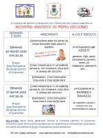 Volantino Primo Soccorso - Comune di Granarolo dell`Emilia