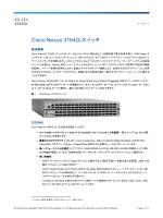 Cisco Nexus 3164Q スイッチ データ シート