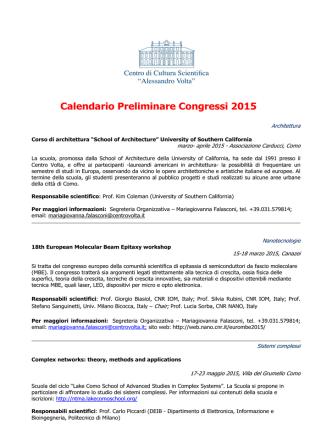 congressi e corsi 2015