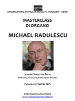 michael radulescu - Conservatorio statale di Musica Jacopo Tomadini