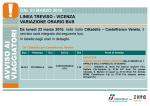 linea treviso - vicenza variazione orario bus dal 23 marzo