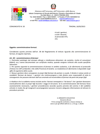 50.somministrazione farmaci - Istituto Comprensivo di Traona