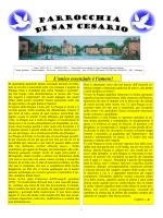 GIORNALINO Pasqua 2015 - Parrocchia di San Cesario DM