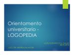 Orientamento universitario - LOGOPEDIA