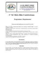 Programma e regolamento terza XC Dirty Bike Castelvetrano