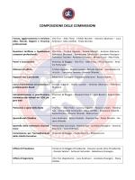 COMPOSIZIONE DELLE COMMISSIONI