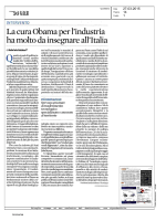 La cura Obama per l`industria ha molto da insegnare all`Italia