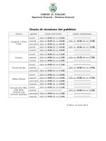 Orari uffici - Comune di Avellino