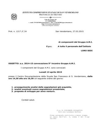 ami.convocazione.13.4.15.pdf - Istituto Comprensivo San Vendemiano