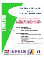 convegno montessori 28.03.2015 - 1° Circolo Didattico Nicola Fornelli