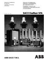SACE Esafluor SF SACE Esafluor SFA