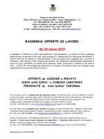 RASSEGNA OFFERTE DI LAVORO - Comune di San Dona` di Piave