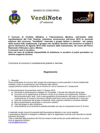 Concorso Verdinote 2015