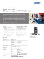 Dräger X-am® 5100 Rilevatore monogas per HF, HCl, H2O2 o