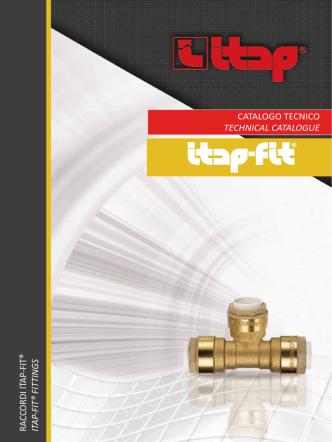 catalogo tecnico technical catalogue ra ccordi itap-fit® itap