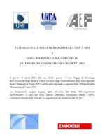 FASE REGIONALE DELLE OLIMPIADI DELLA FISICA 2015 E GARA