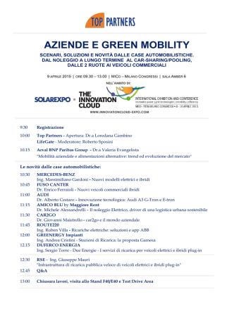 AZIENDE E GREEN MOBILITY