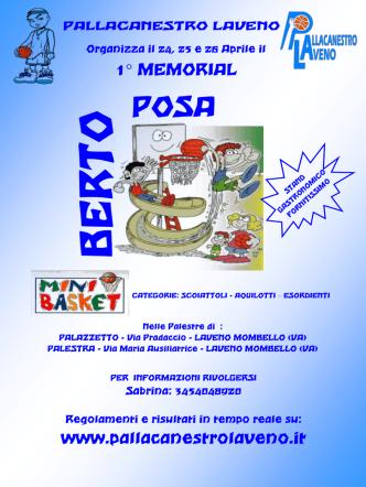 1° MEMORIAL www.pallacanestrolaveno.it