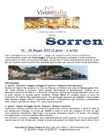 Sorrento - 1/3 Maggio - Cral Agenzia Entrate Abruzzo
