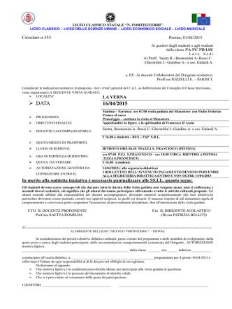Circ.n 353- uscita didattica LA VERNA 16.04.2015