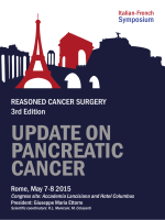 UPDATE ON PANCREATIC CANCER