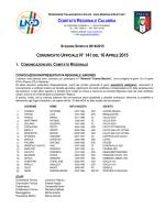 stagione sportiva 2014/2015 comunicato ufficiale n°141 del 10aprile