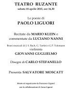 TEATRO RUZANTE PAOLO LIGUORI