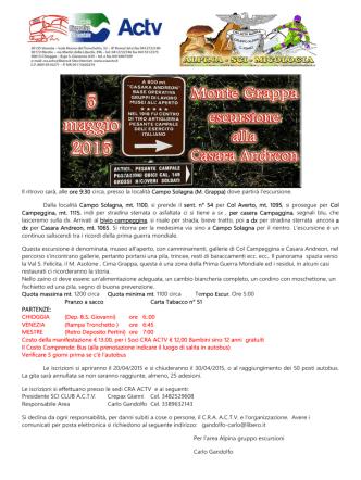 05-05-2015 escursione sul monte grappa – casara