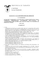 bando ( 236 Kb) - Provincia di Taranto