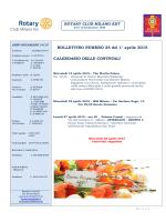 ROTARY CLUB MILANO EST BOLLETTINO NUMERO 25 del 1