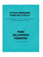 Piano dell`offerta formativa - Istituto Comprensivo Cuore dello Stella