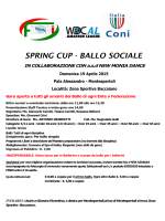 SPRING CUP - BALLO SOCIALE