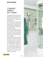 OBIETTIVO PROFESSIONE L`impianto elettrico per il bagno