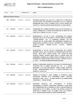 Azienda Sanitaria Locale TO3 Atti in pubblicazione