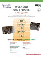 Weekend con i Fossili - Un evento paleontologico nella Regione