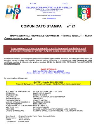 COMUNICATO_stampa 21