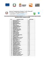 Graduatoria Orientatore - Istituto Comprensivo Chiarelli