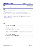 RXファミリ 組み込み用TCP/IP M3S-T4