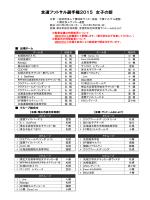 組合せ - 北海道サッカー協会