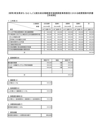 (仮称)埼玉県まち・ひと・しごと創生総合戦略策定基礎調査業務委託に