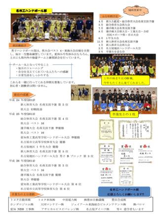 15/01/27 ハンドボール部のホームページを更新しました