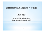 放射線照射による蛋白質への影響 - 京都大学 宇宙総合学研究ユニット