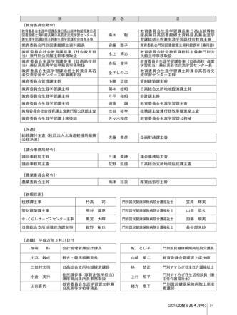34 〈2015広報日高 月号 〈2015広報日高 月号〉 旧 氏 名 新 [教育委員;pdf