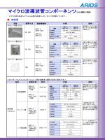 マイクロ波導波管コンポーネンツ(EIAJ規格に準拠)