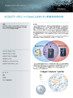 ACQUITY UPLC H-Classによ よる非イオン界面活性剤分析