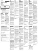 MG10XU/MG10 Precautions