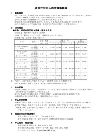 27.1.10 焼津市 田尻団地 建替募集